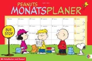 Peanuts Monatsplaner 2012