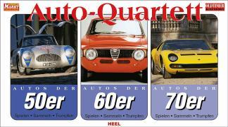 Auto Quartette 3er Set. Autos der 50er. Autos der 60er. Autos der 70er