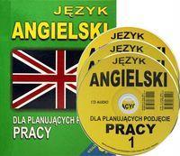 Jezyk angielski dla planujacych podjecie pracy Ksiazka + 3 plyty CD audio