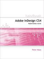 Handboek Adobe InDesign CS4 / druk 1 - Maas, P.