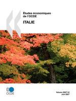 Tudes Conomiques de L'Ocde: Italie 2007 - Oecd Publishing, Publishing