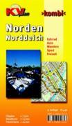 Kombi Norden.Cityplan 1 : 7500, Detailkarte 1 : 15 000, Freizeitkarte 1 : 25 0000